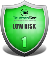 TrustedSec Low Risk Shield Logo